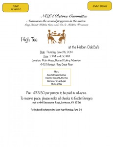 High Tea with the Retiree Committee