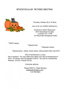 Flyer for October Spooktacular 2014.