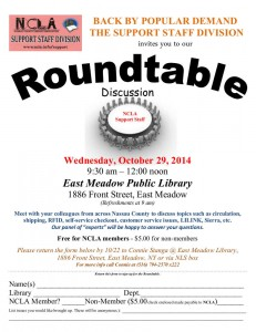 Support Staff Division Roundtable 2014 Flyer
