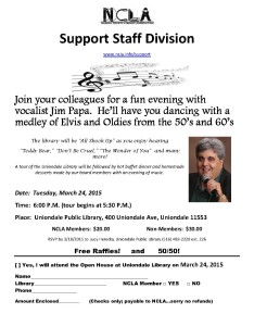 2015 Support Staff Open House Event Flyer