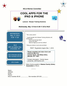 Cool Apps for the iPad and iPhone Event Flyer