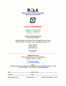 Flyer for Annual Media Roundtable, 2015.