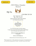 Event Flyer for High Tea with the Retiree Committee.