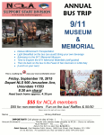 Support Staff Division Bus Trip, 9-11 Memorial