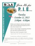 Program Info Exchange Event Flyer.