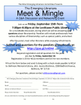Meet and Mingle Networking Event Flyer.